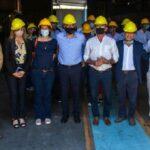 Dominguez visitó la planta de procesamiento de Advanta en la localidad de Murphy